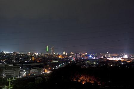角山運動公園 水の広場の夜景