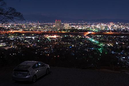観音山 みはらし台の夜景