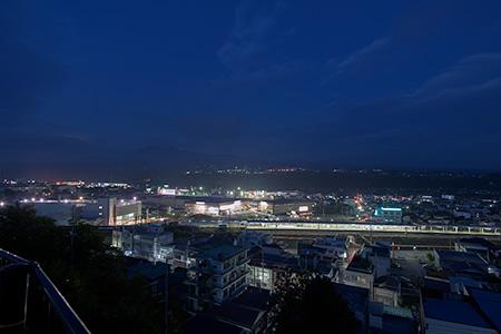 観音山公園(韮崎観音)の夜景