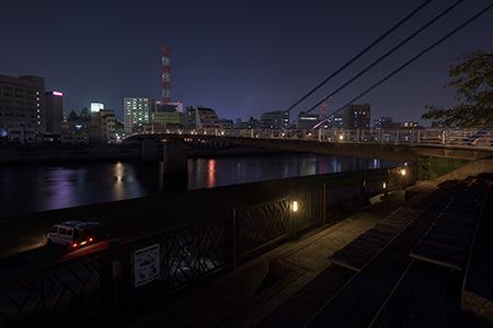 狩野川河川敷の夜景