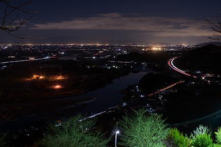 高山観世音の夜景