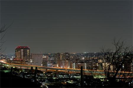 唐沢公園の夜景