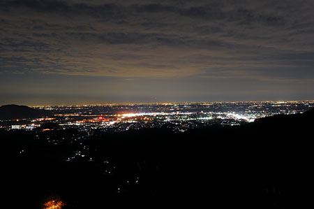 唐沢山の夜景