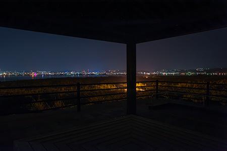 烏島展望所の夜景