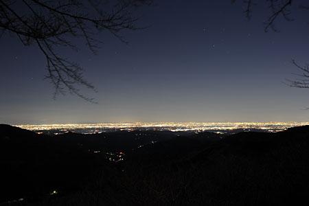 刈場坂峠の夜景