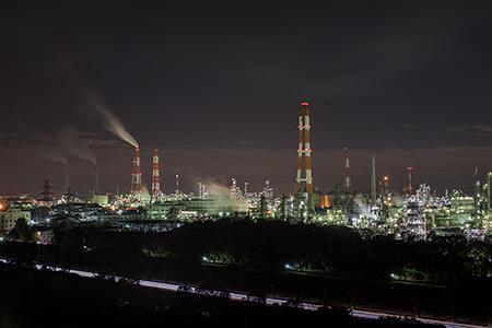笠上山の夜景