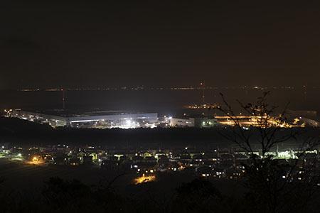 笠山の夜景