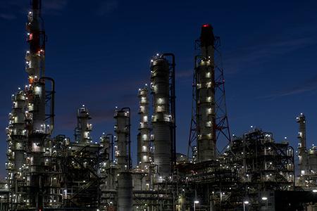 鹿島石油 東門前の夜景