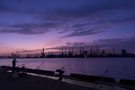 鹿島港の夜景
