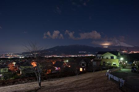 片平山公園の夜景