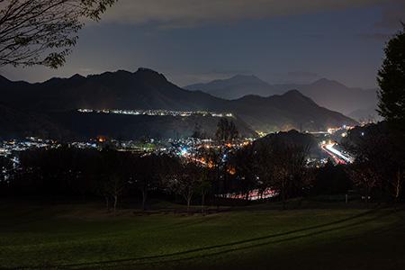 桂川ウェルネスパークの夜景