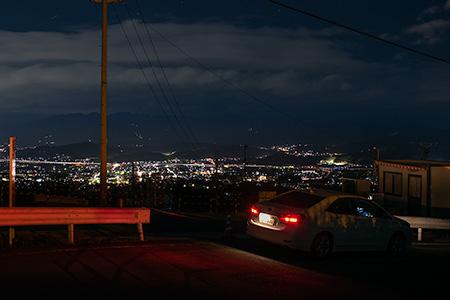 葛城山ロープウエイ 登山口の夜景