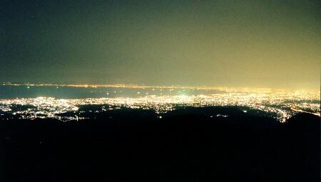 葛城山展望台の夜景
