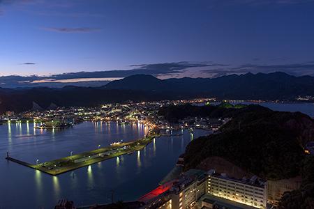 ホテル勝浦 山上館屋上