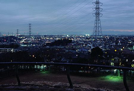 川和富士公園の夜景