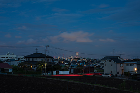 川島町の夜景
