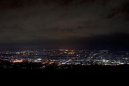 萱野高原の夜景