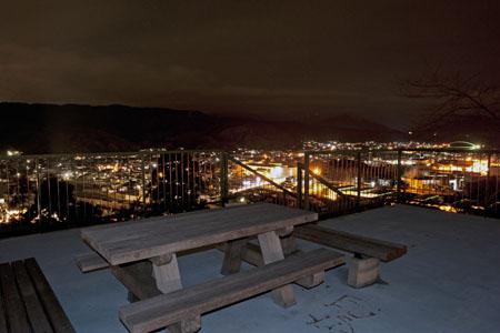 風の宮公園の夜景