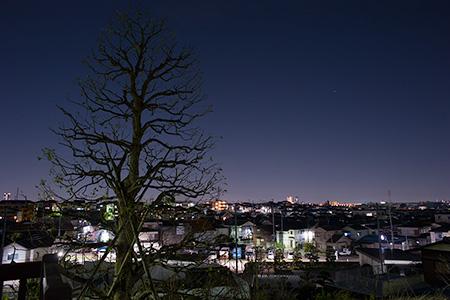 風の丘公園の夜景