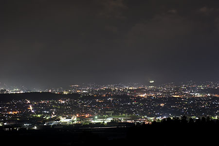 南信州フルーツラインの夜景