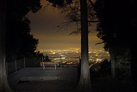 県民の森の夜景