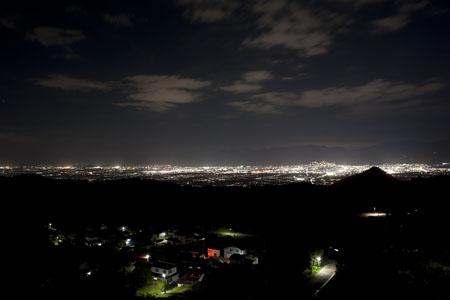 ふれあい展望台の夜景