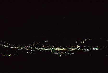 県民の森付近の夜景
