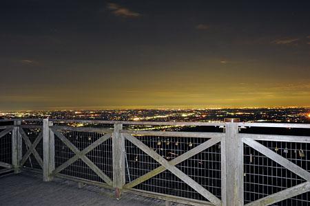太平山 謙信平展望台の夜景
