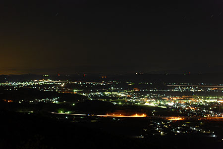 芥子山公園の夜景