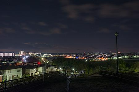 けやき台公園の夜景
