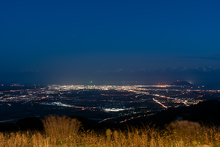 きじひき高原 パノラマ展望台の夜景