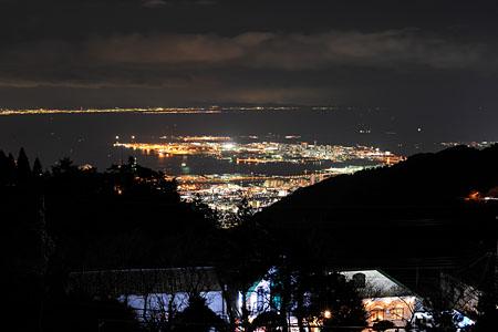 六甲山記念碑台の夜景