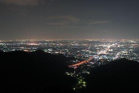 金華山展望台の夜景