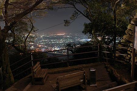 金華山岐阜城展望台の夜景