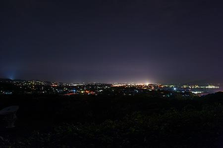 錦江湾公園の夜景