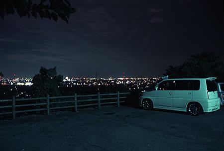 金生山の夜景