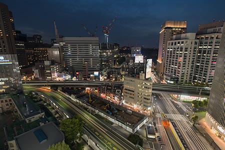 東急プラザ銀座 KIRIKO TERRACEの夜景