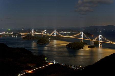 亀老山展望公園近くの夜景