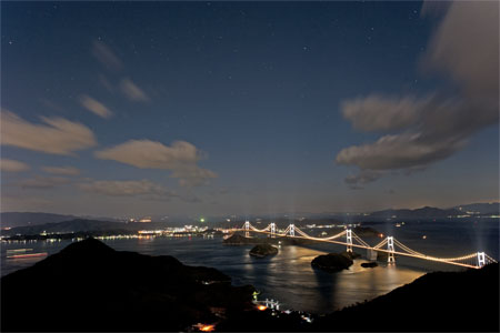 亀老山展望公園の夜景