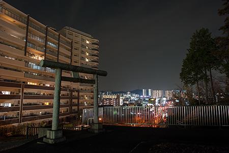 北八幡神社の夜景