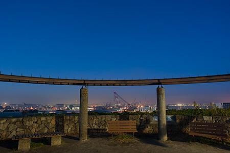 富岡総合公園 北台展望台の夜景