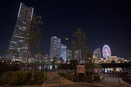 北仲通北第一公園の夜景