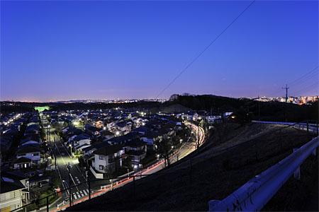 北野台貯水タンク付近の夜景