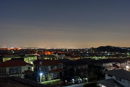 北野台緑地No.3の夜景