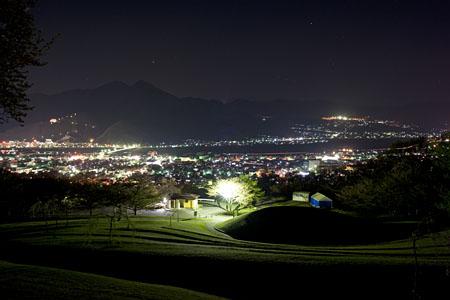戸倉宿キティパークの夜景