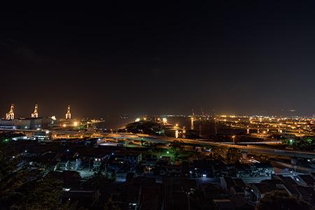 清見神社付近の夜景