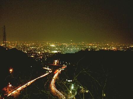 清滝峠の夜景