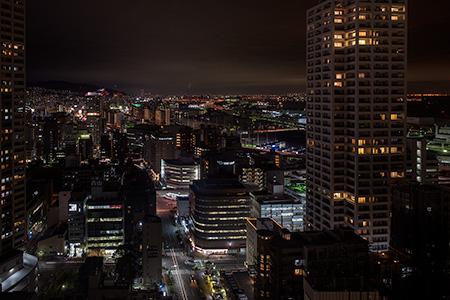 神戸市役所 展望ロビーの夜景