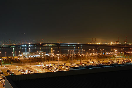 神戸空港 屋上デッキの夜景
