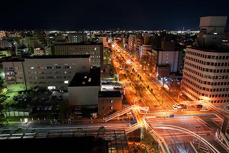 甲府市役所 展望ロビーの夜景